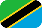 Rounded flag of Tanzania