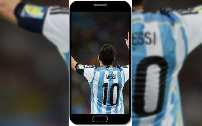 Lionel Messi Numéro 10 Argentine Football - Fond d'Écran en QHD pour Mobile