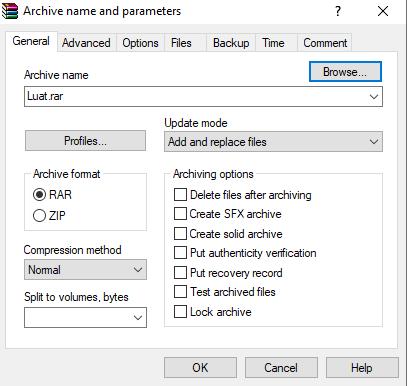Phần mềm nén dữ liệu WinRar - Blog Share nows