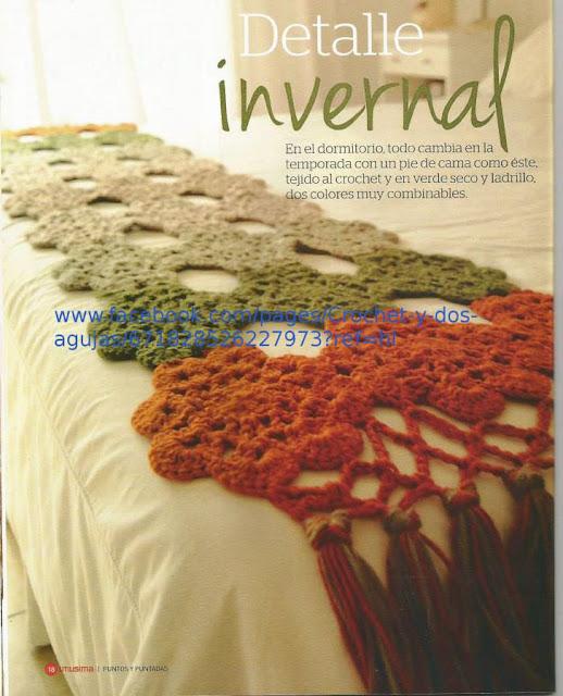 """Detalle Invernal"" para la cama a Crochet"