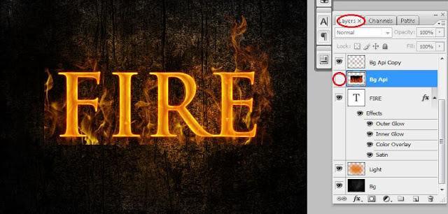 Membuat Teks Efek Api Terbakar dengan Photoshop