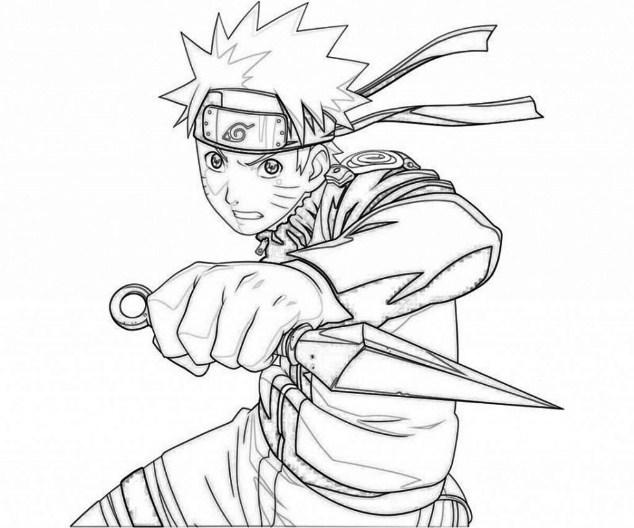 15 Gambar Sketsa Mewarnai Kartun Naruto Terbaru