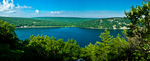 View of Devil's Lake from East Bluff Trail - Devil's Lake - Baraboo WI