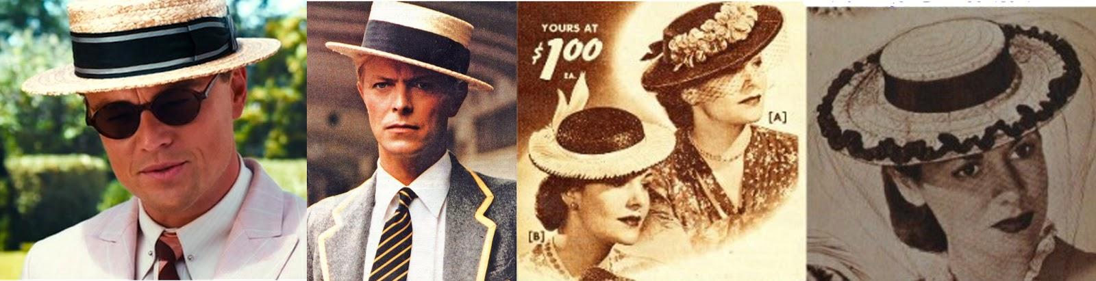 b9fbeaf18134b É uma versão feminina do chapéu masculino conhecido como Boater. O boater  era um modelo
