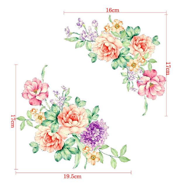 3D Peony Flowers Wall Stickers