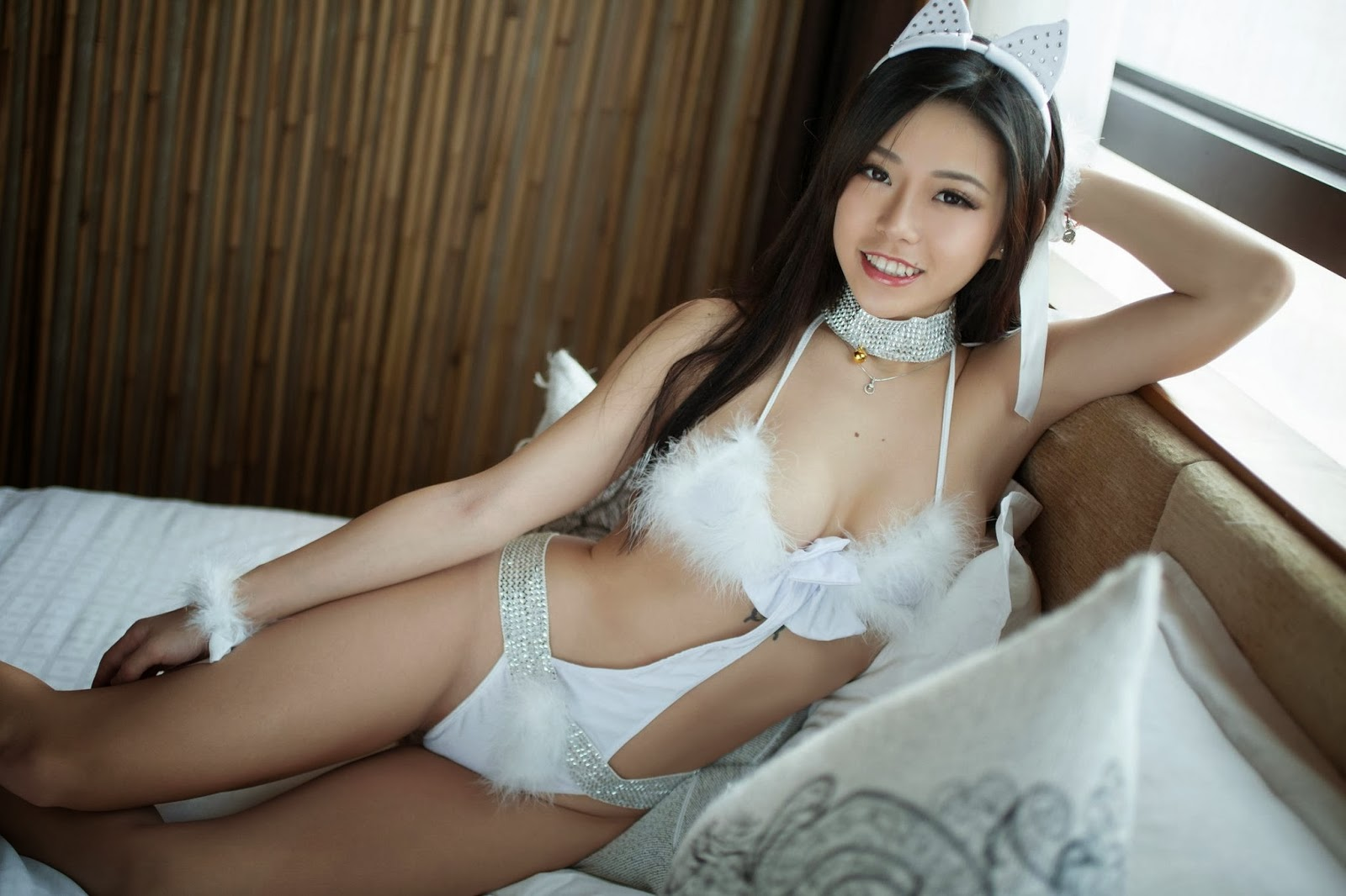 Chinese girl undressing