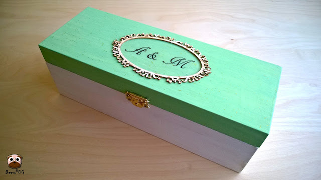 #88 Miętowe pudełko ślubne