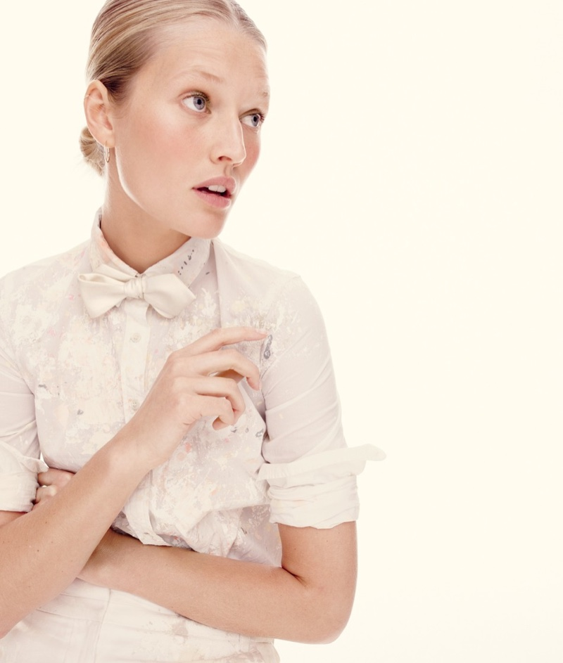 J Crew Spring/Summer 2017 Campaign featuring Toni Garrn