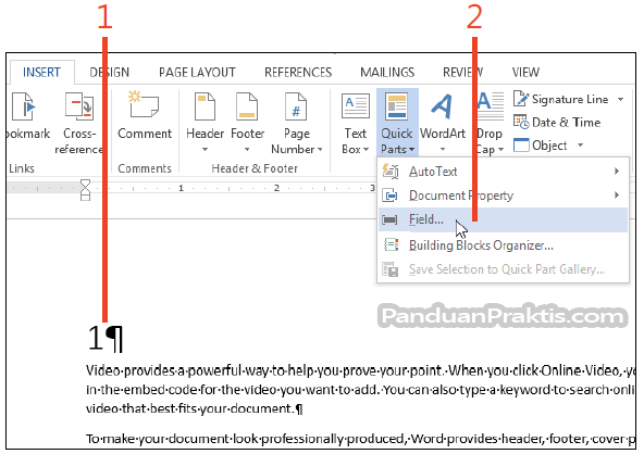 make table of contents in word