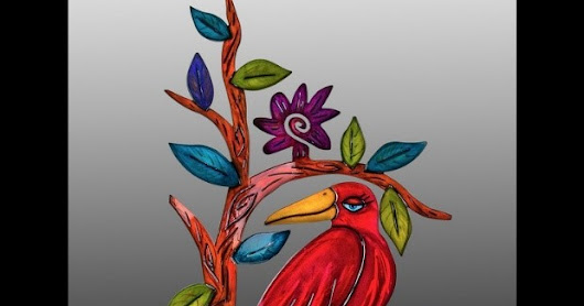"""PRETTY BIRD"" BY KRISTIN DESANTIS IS CRESTED CROW OF COTTONWOOD ART FESTIVAL"