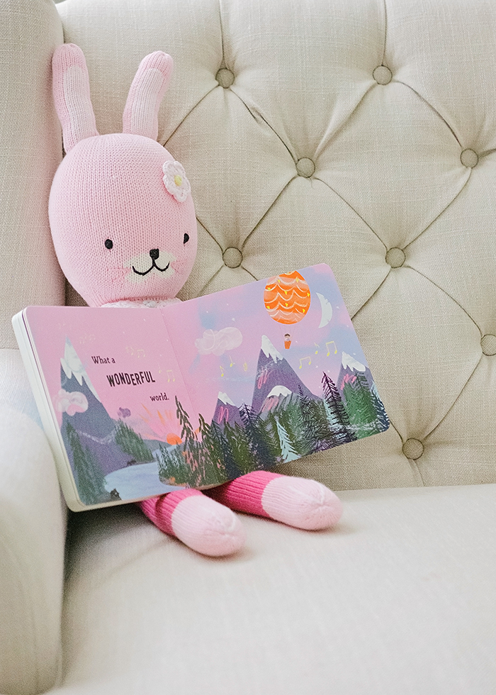 Cuddle + Kind Bunny with What a Wonderful World Board book