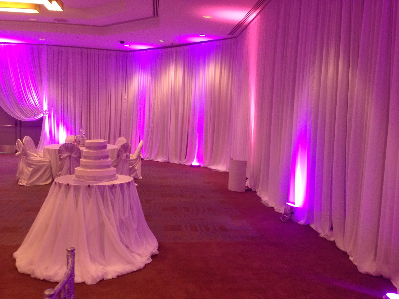 Purple Rain Our Customers Are Awesome Client Wanted Her Wedding Theme To Be Electric Up Lights In Hot Pink And With Crystal