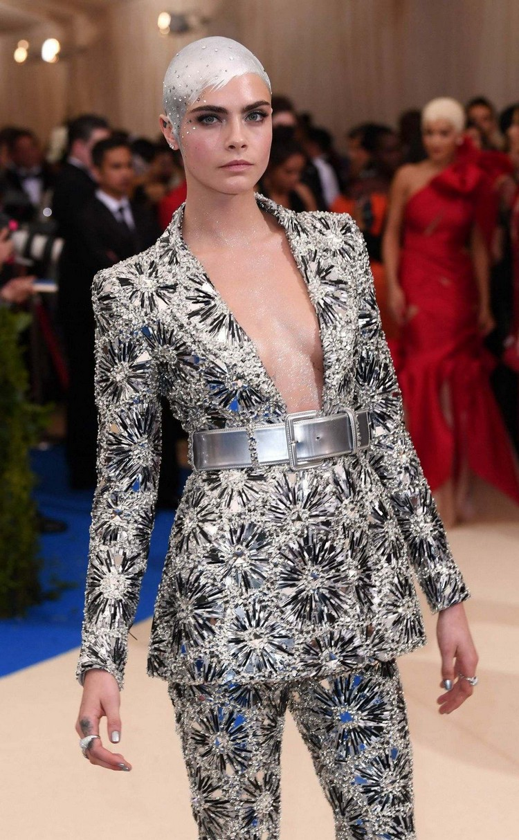 Cara Delevingne at the Met Gala-2017
