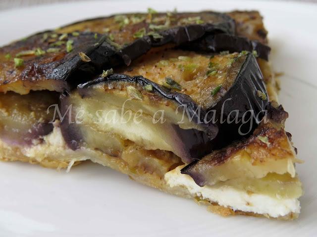 receta malagueña de tarta tatin de berenjenas