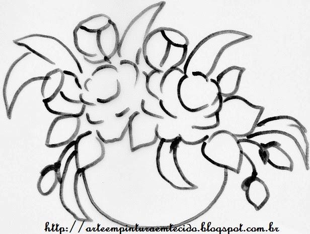 pintura em tecido risco para pintar flores