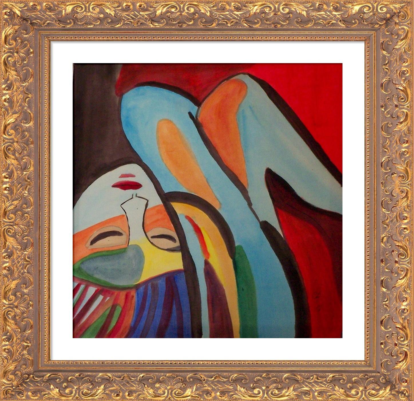 Abstrakte Malerei Vergnugt