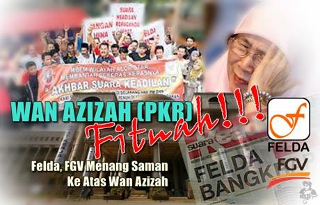 Mahkamah Perintah Dr Wan Azizah, Dua Lain Bayar RM70,000 Kepada Felda