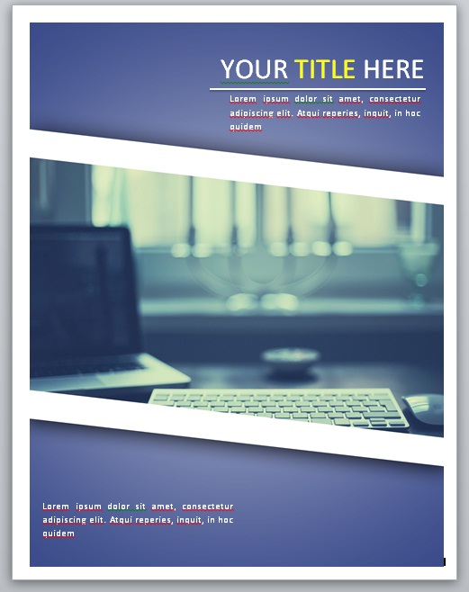 Contoh Cover Laporan Keuangan Warna Devia