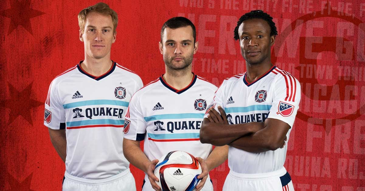 the latest ae5c6 3c683 Chicago Fire 2015 Away Jersey Released - cheap soccer cleats
