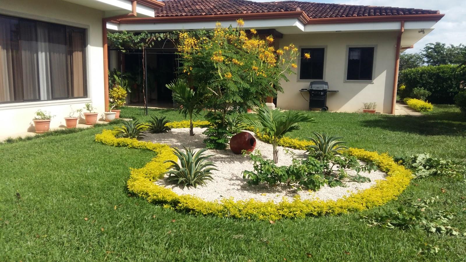 Dise o de jardines liberia - Disenos de jardines con piedras blancas ...