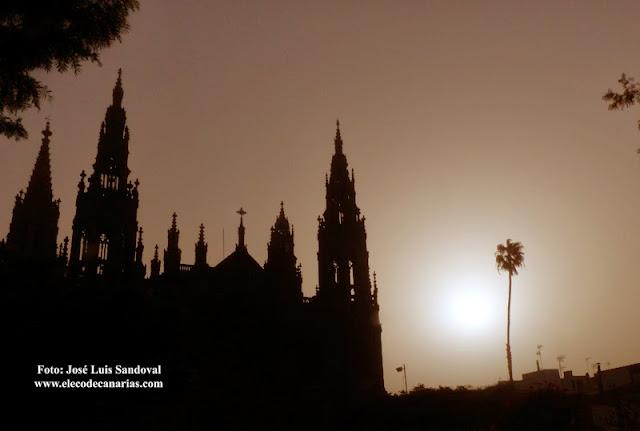 Gran  Canaria, Fuerteventura y  Lanzarote en aviso amarillo por calima el jueves 29 diciembre . Foto:  José Luis Sandoval