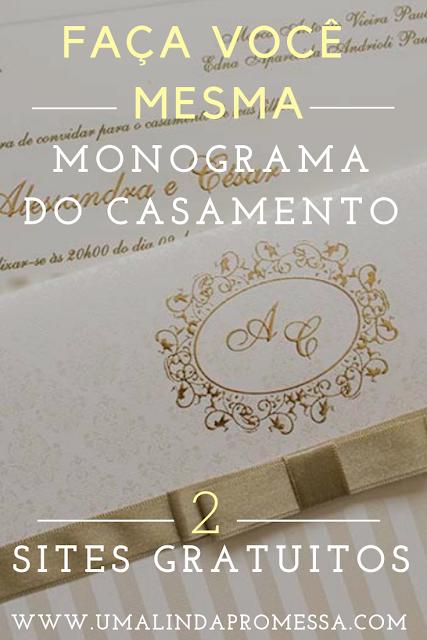 Faça você mesma seu monograma de casamento