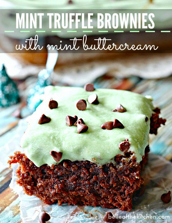 mint brownies-mint-buttercream