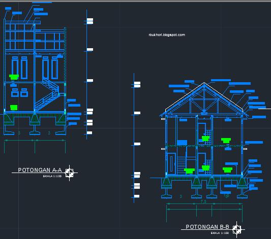 46 Foto Download Desain Rumah 2 Lantai Autocad Terbaik Unduh