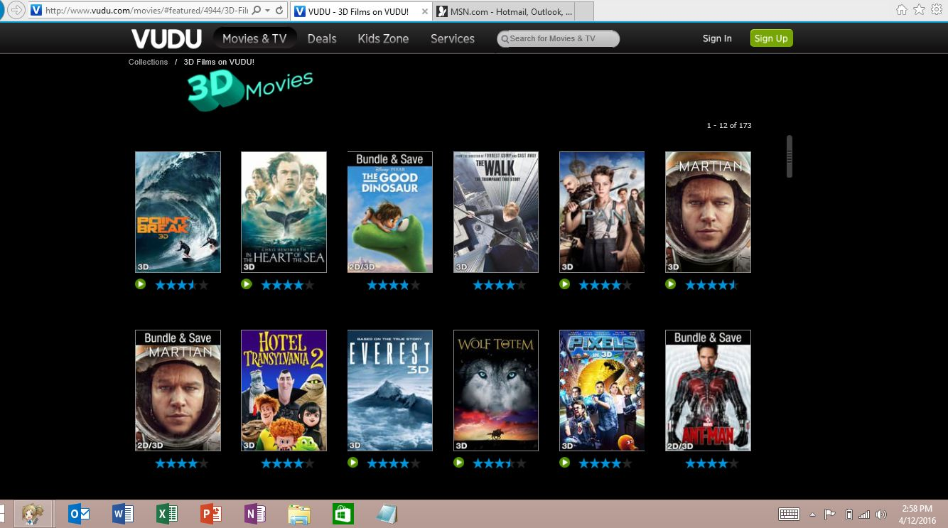 Save BluRay 3D!: Vudu SELLS 3D Movies, You Just   Can't Watch Them?!