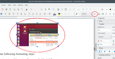 how to crop a picture in libreoffice draw