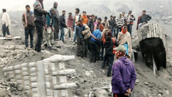 Wall collapses on wedding guests, killing at least 25