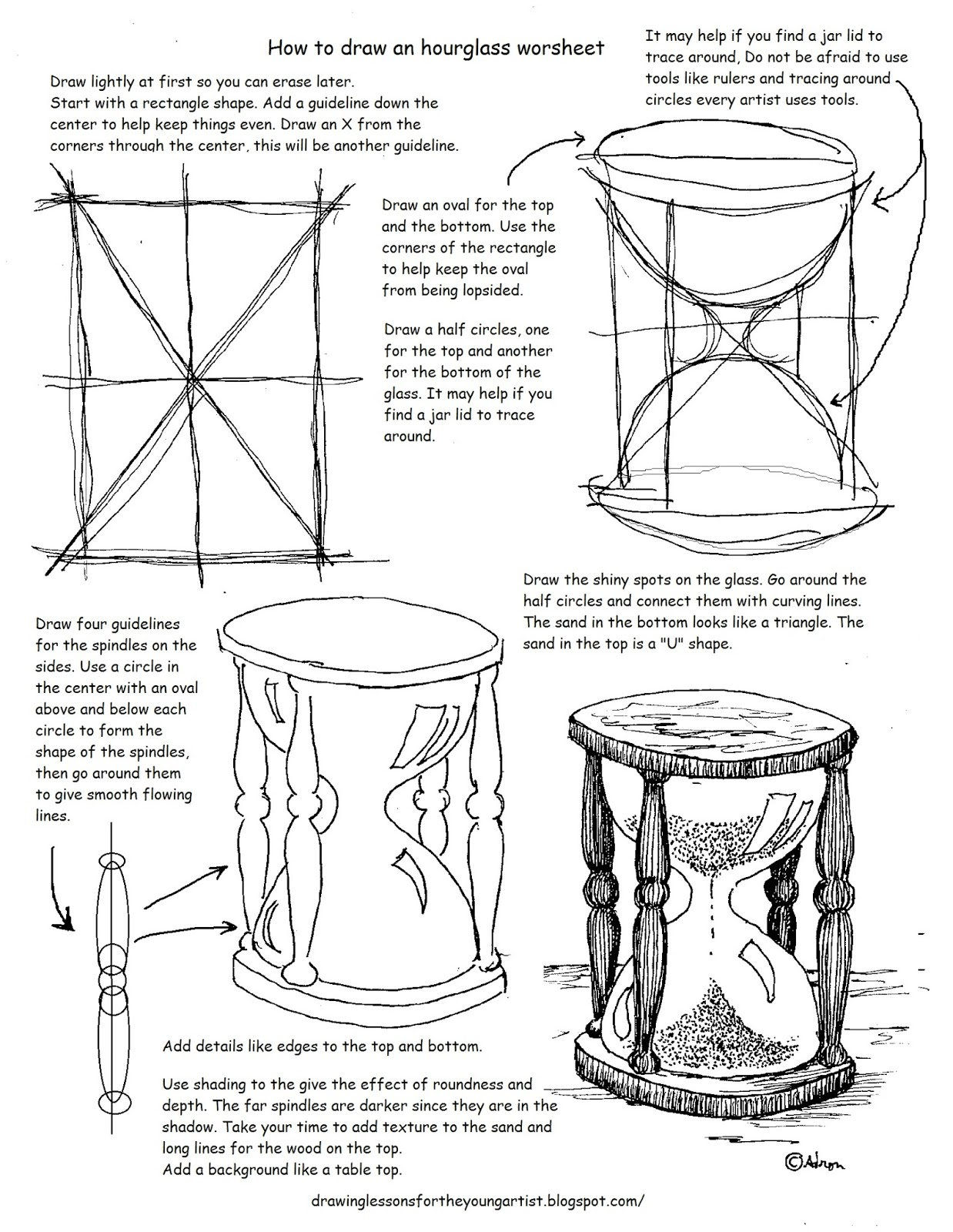 worksheet Draw The Other Half Of The Picture Worksheet how to draw worksheets for the young artist printable an hourglass worksheet