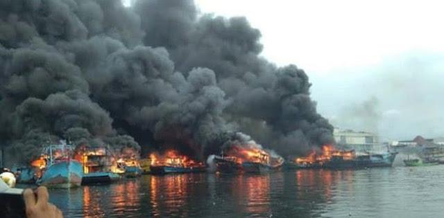 Polisi Tetapkan 3 Tersangka Kasus Kebakaran 34 Kapal Nelayan Di Muara Baru
