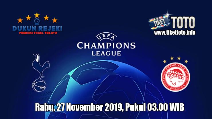 Prediksi Champions League Tottenham Hotspur VS Olympiacos 27 November 2019