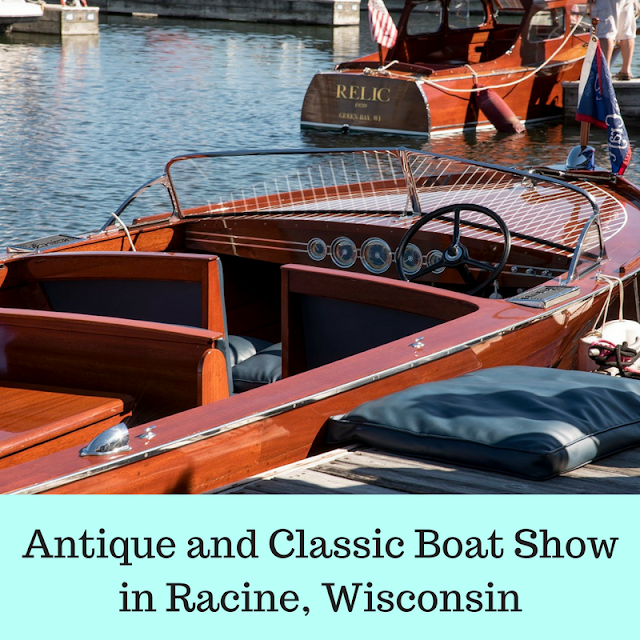 Antique and Classic Boat Society Boat Show in Racine, Wisconsin