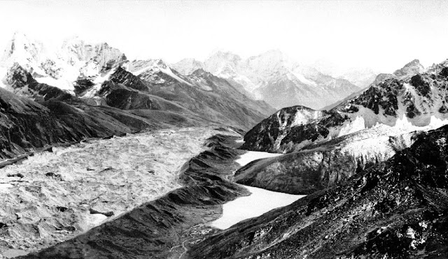 Image Attribute: The Ngozumpa glacier as it was in 1955 [image by Erwin Schneider]