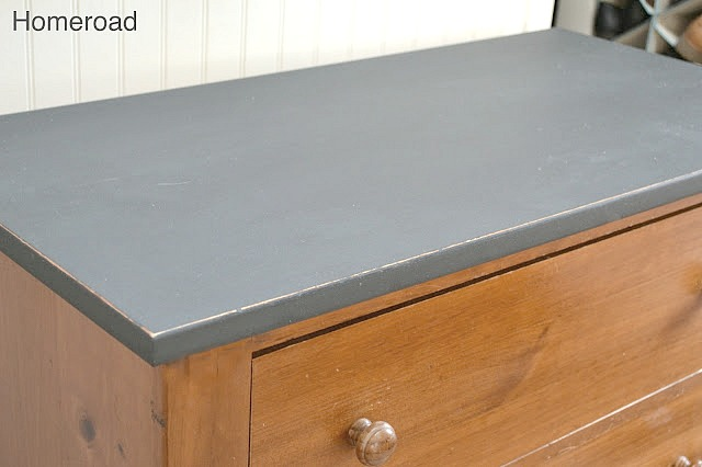 Chalk Painted bedroom dresser in Graphite