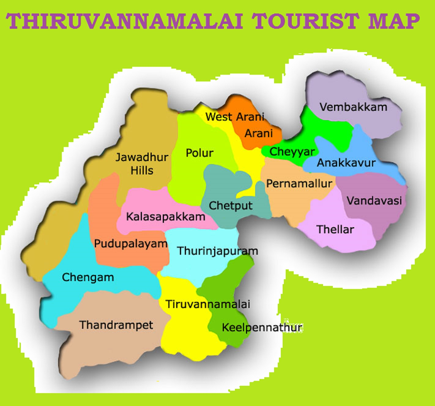 THIRUVANNAMALAI TOURIST MAP – South India Map With Tourist Places
