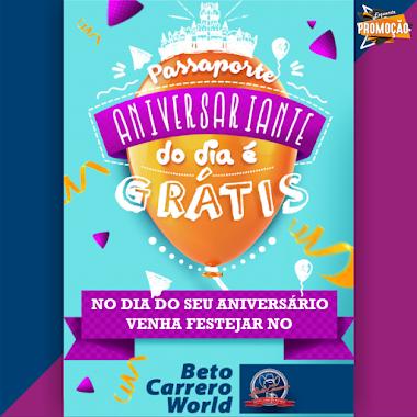 No seu aniversário ganhe um Passaporte Grátis para o Beto Carrero World