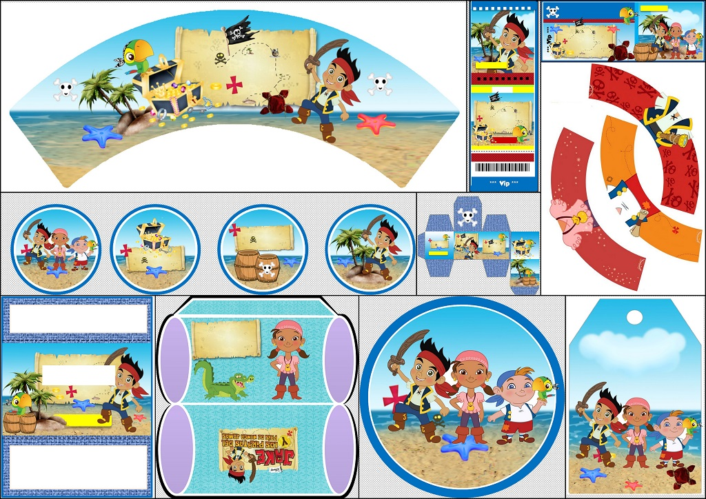 Jake Y Los Piratas Kit Para Imprimir Gratis Ideas Y