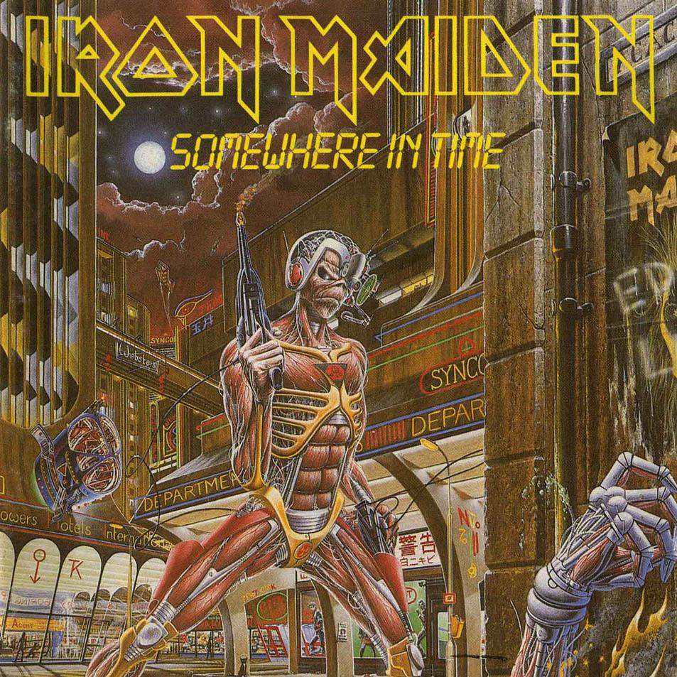 Iron Maiden 'Eddie'- Car Window Sticker - Somewhere In ...  |Iron Maiden Somewhere In Time Tattoo