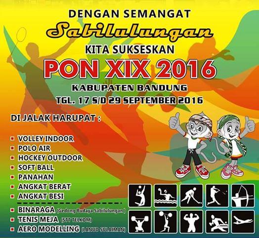 Inilah 10 Cabang Olahraga PON XIX 2016 di Kabupaten Bandung