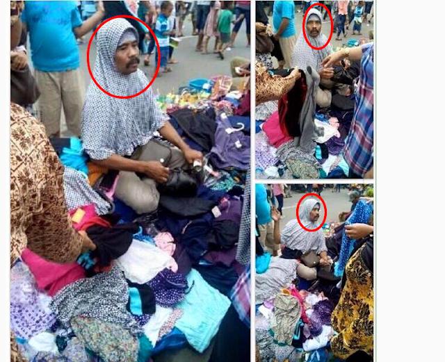NGAKAK !!! Ini Dia Penjual Hijab di Tanah Abang yang Bikin Heboh DiDunia Maya