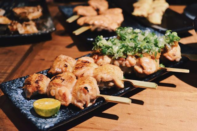 蔦燒的串燒調味以鹽味、醬燒、味噌、蔥花、明太子等為變化,可照個人喜好選擇。
