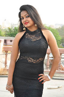 Actress Pentali Sen Stills in Black Lace Dress at Golmal Gullu Movie Pressmeet  0014.JPG