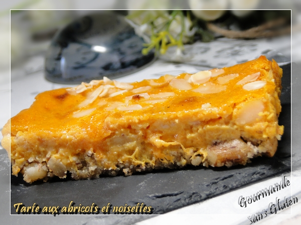 Tarte aux abricots et noisettes sans gluten