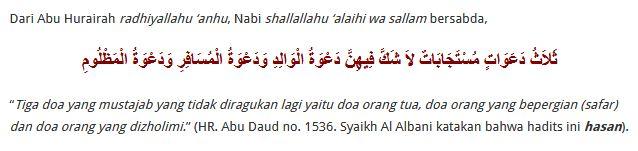 Mustajab Doa Seorang Ibu - islamulia.com