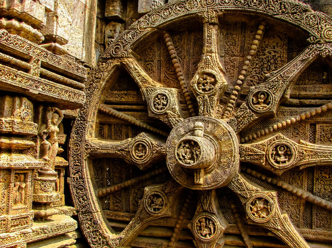 The famous Chariot Wheel of the Konark Sun Temple @DoiBedouin_Jayashree Sengupta