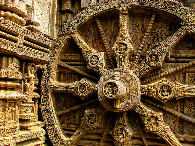 The famous Chariot Wheel of the Konark Sun Temple @DoiBedouin_Jayashree Sengupta