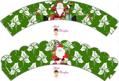Navidad Divertida: Wrappers y Toppers para Cupcake para Imprimir Gratis.